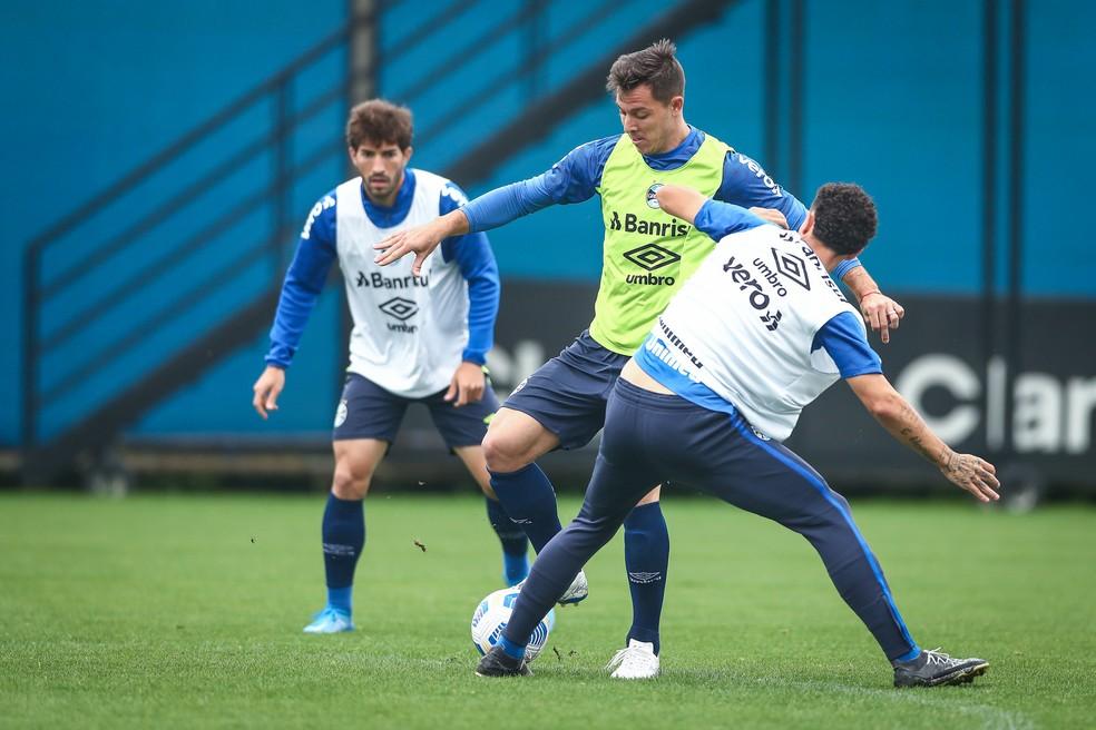 Churín é um dos jogadores que volta a ficar à disposição de Felipão — Foto: Lucas Uebel / Grêmio FBPA