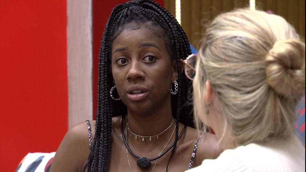 Camilla de Lucas desabafa com Viih Tube sobre sister: 'Estou me sentindo excluída' — Foto: Globo