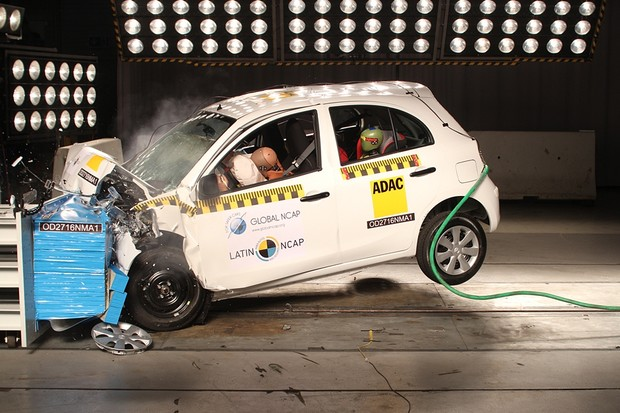Crash test Nissan March 2018 (Foto: Latin NCAP)