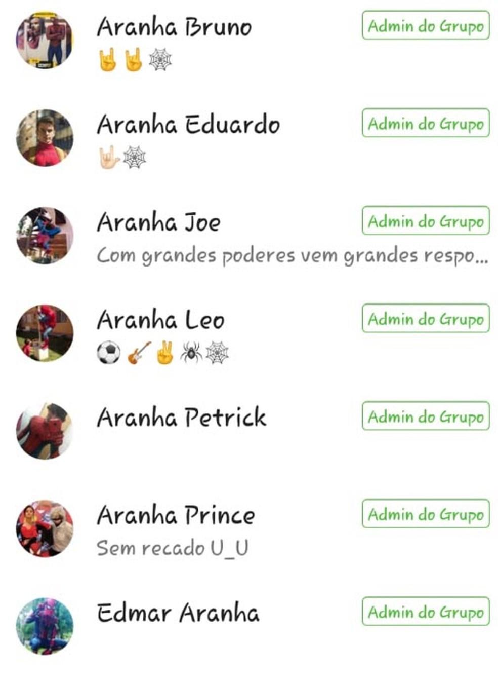 Homens-aranha de todo o país trocam experiências em grupo de Whatsapp. (Foto: Homem-Aranha Mineiro/Arquivo pessoal)