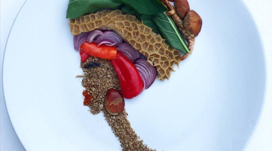 A artista levou os restos de alimentos para a sua cozinha e transformou em arte (Foto: Divulgação)