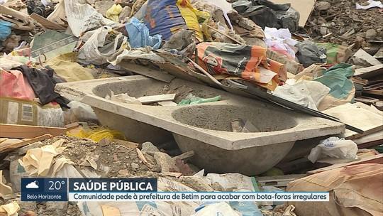 Lotes de Betim, na Grande BH, viram bota-fora irregular de lixo