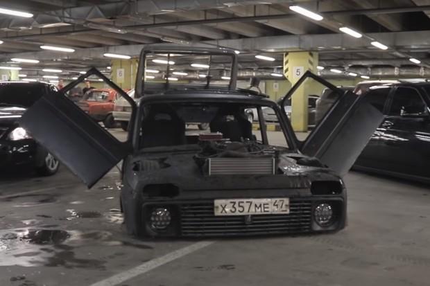 Lada Niva Rebaixado (Foto: Reprodução/YouTube)