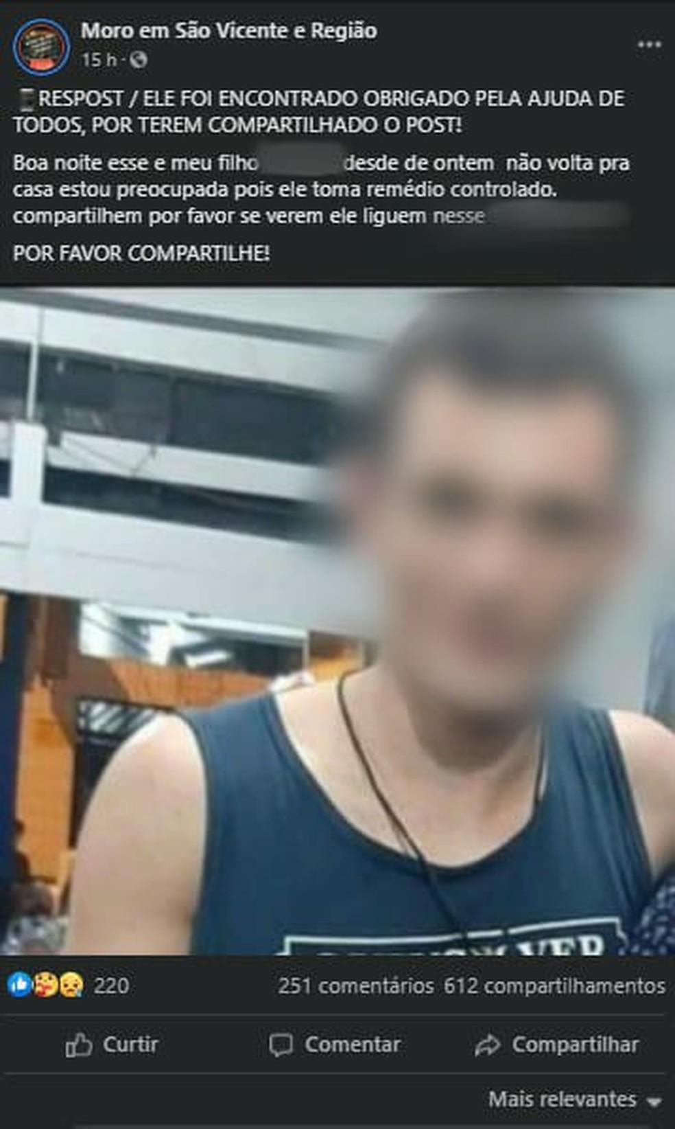 Funcionário do Carrefour foi encontrado preso em elevador  — Foto: Reprodução/Facebook/Moro em São Vicente e Região