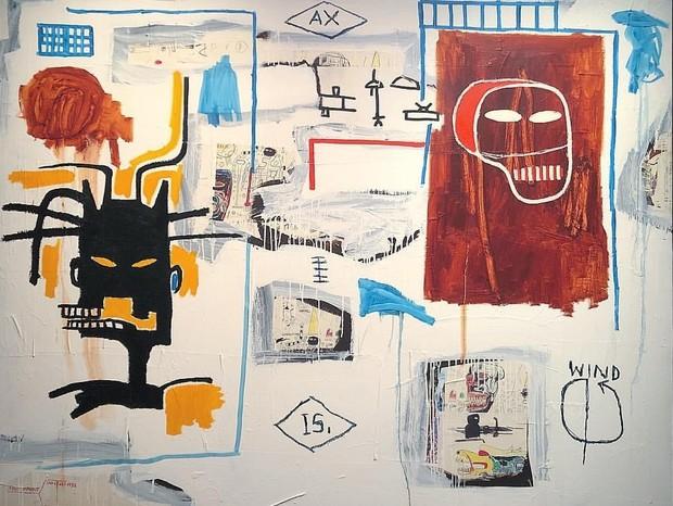 Obra de Basquiat vendida por US$ 200 em 1988 foi leiloada por US$ 41 milhões
