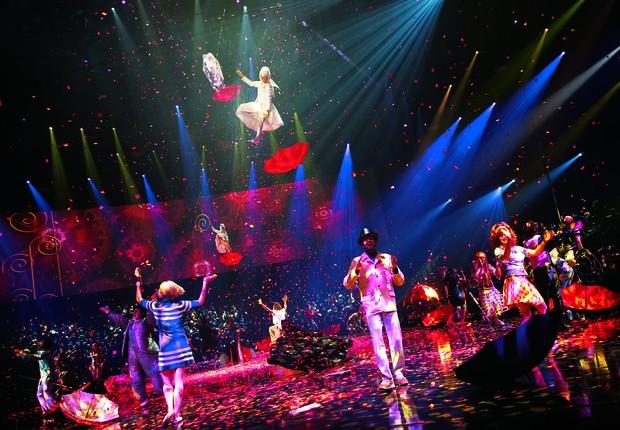"""Apresentação """"The Beatles LOVE"""" é um dos maiores sucessos do Cirque du Soleil nos últimos anos (Foto: Divulgação)"""