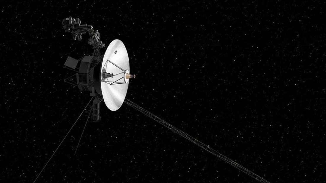 Ilustração da Voyager 2, lançada em 1977 (Foto: Divulgação/ NASA)