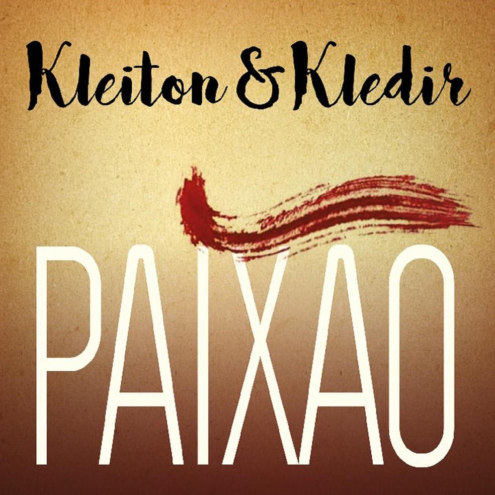 Capa do single 'Paixão', de Kleiton & Kledir (Foto: Divulgação / Biscoito Fino)