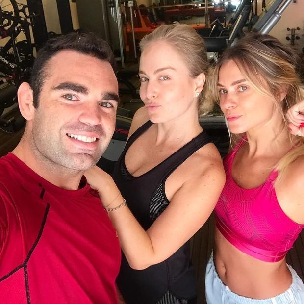 Chico Salgado, Angélica e Carolina Dieckmann  (Foto: Reprodução/Instagram)