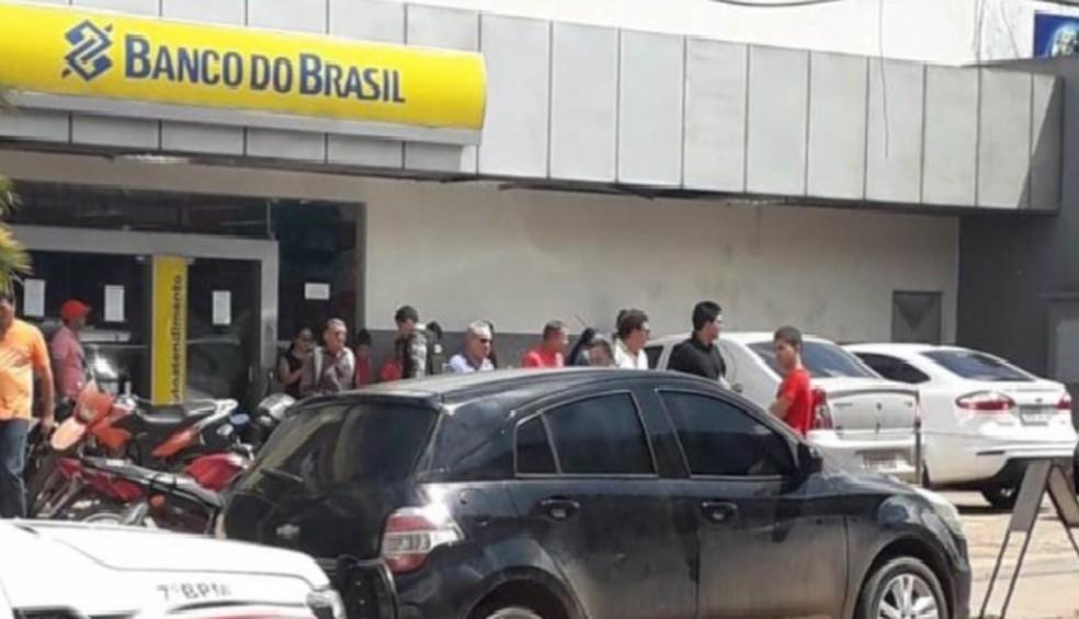 Sede do Banco do Brasil no município de Santa Luzia do Tide (MA) — Foto: Divulgação