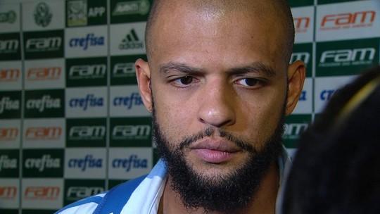 """Felipe Melo defende elenco do Palmeiras após cobrança: """"A gente não vai dar espetáculo sempre"""""""