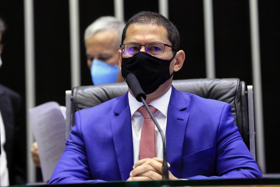 Vice-presidente da Câmara, Marcelo Ramos (PL-AM), em sessão no plenário em fevereiro — Foto: Michel Jesus/Câmara dos Deputados