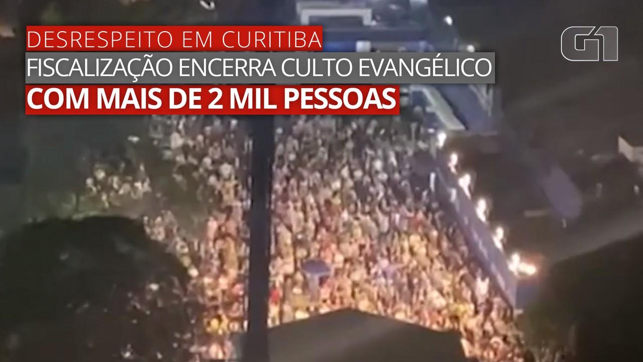 VÍDEO: Imagens mostram culto em igreja com mais de 2 mil pessoas em Curitiba