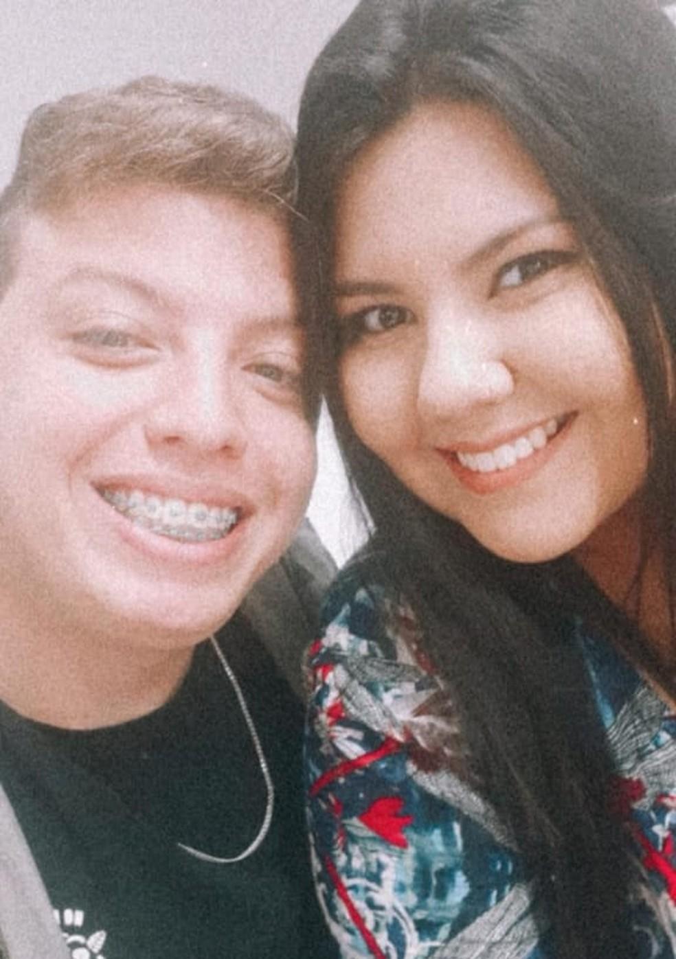 Natália e Aaron estavam juntos desde 2019 — Foto: Arquivo Pessoal