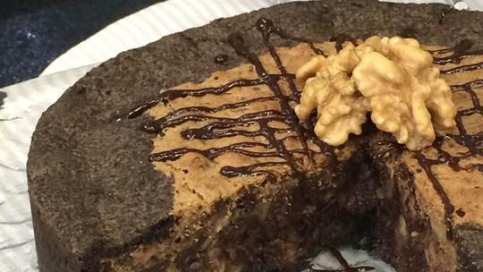Torta de Nozes e Chocolate