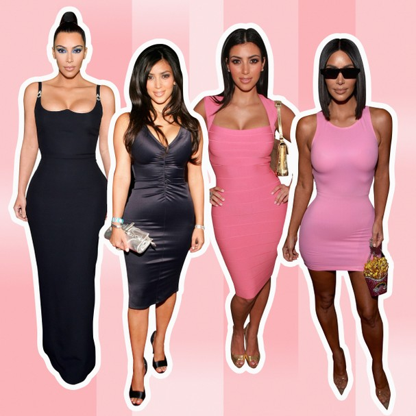 A evolução do estilo de Kim Kardashian (Foto: Getty Images / Arte Erik França)
