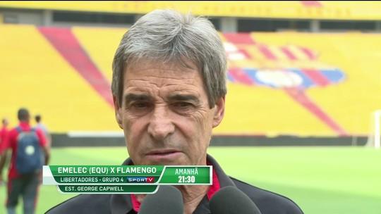 Carpegiani comenta ausência de Réver, situação de Dourado e projeta jogo contra o Emelec