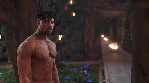 Michael B. Jordan como o vilão de Pantera Negra (Foto: Divulgação)