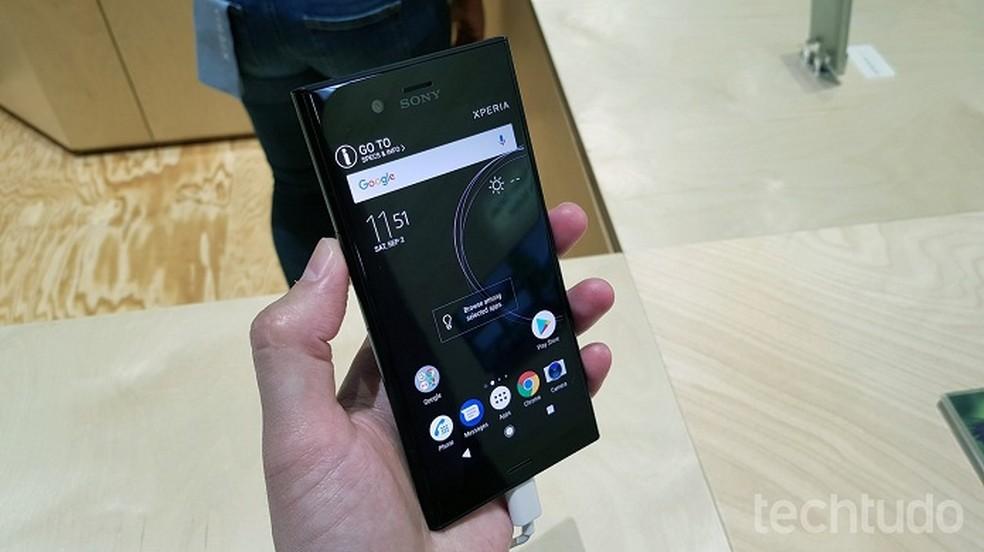 Xperia XZ1 foi o primeiro smartphone a ter Android 8 Oreo no Brasil (Foto: Thássius Veloso/TechTudo)