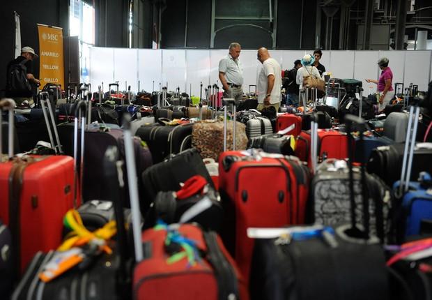 Bagagem em aeroporto ; turismo no Brasil ; turistas ; bagagens ;  (Foto: Tânia Rêgo/Agência Brasil)