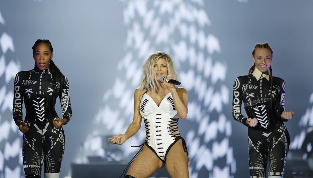 -  Fergie canta em seu show no Rock in Rio 2017  Foto: Marcos Serra Lima/G1