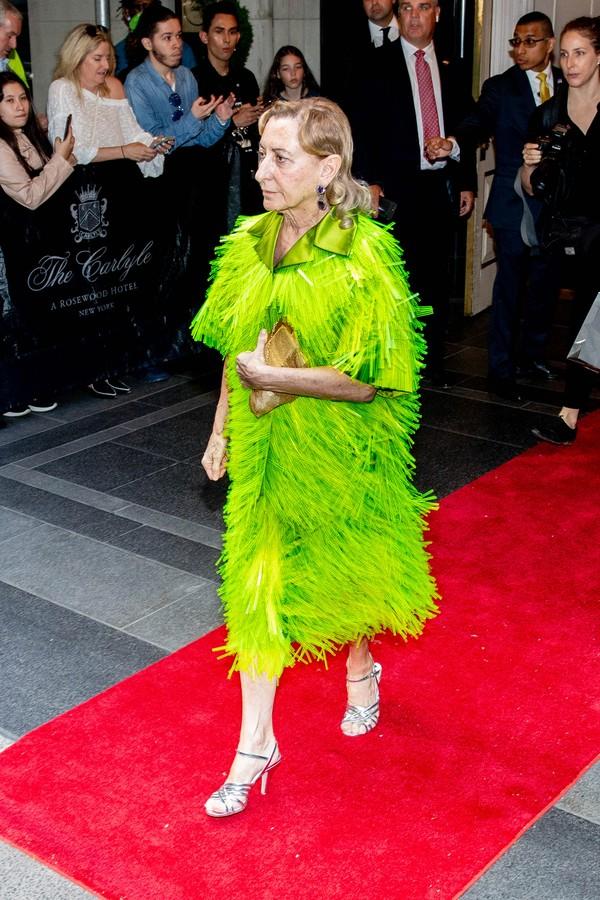 Miuccia Gala chega ao Met Gala 2018 (Foto: Getty Images)