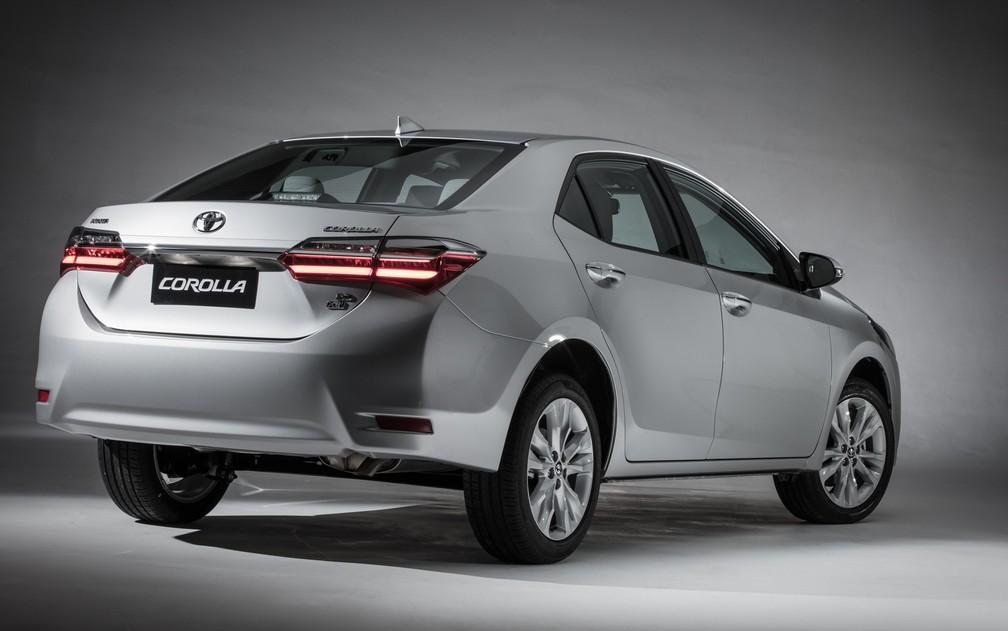 Corolla 2019, a geração anterior — Foto: Divulgação