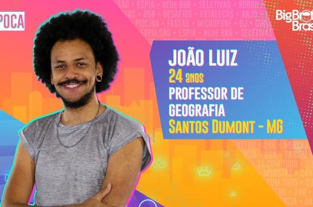 João Luiz. do 'BBB' 21 (Foto: Reprodução)