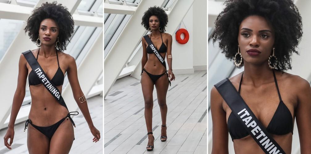 A Miss Itapetininga, Karen Rosa, de 19 anos, candidata a Miss São Paulo 2018 (Foto: Fábio Tito/G1)