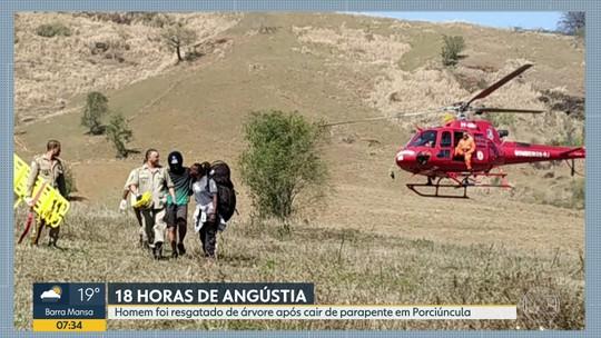 Empresário que fazia voo livre é resgatado após ficar 18 horas em cima de uma árvore