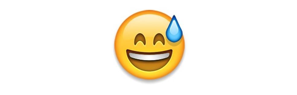 Emoji expressa felicidade com alívio — Foto: Reprodução/TechTudo