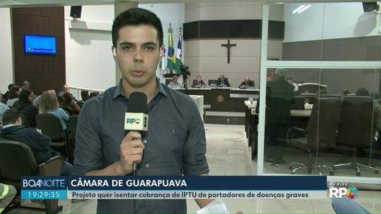 Vereadores de Guarapuava discutem projeto sobre isenção do IPTU