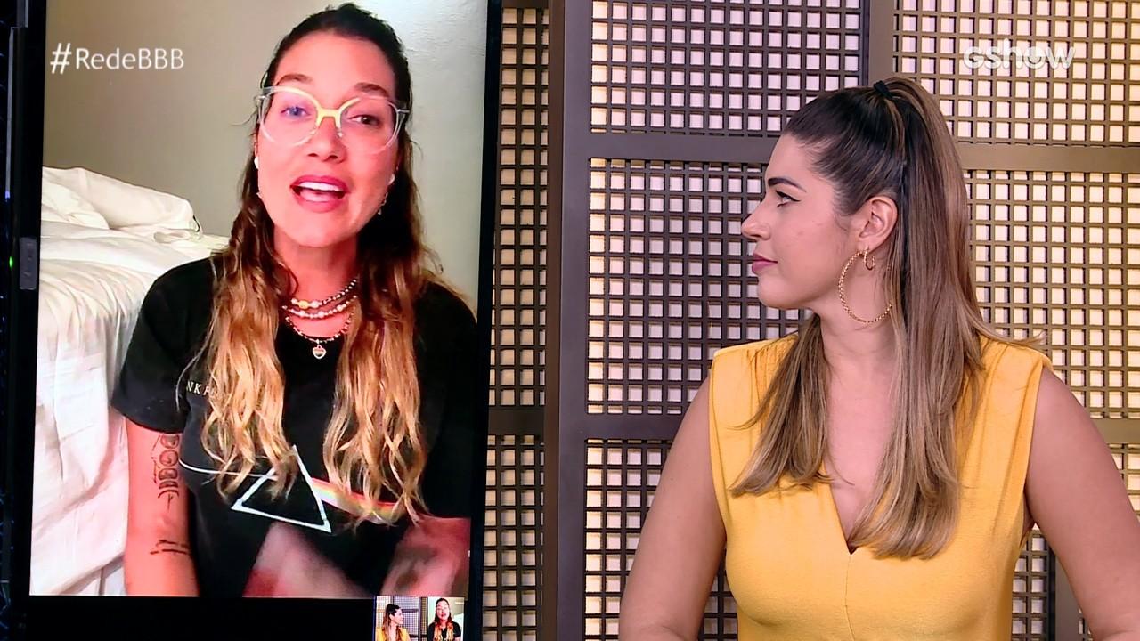 Mesa BBB: Gabriela Pugliesi diz que aprendeu com cancelamento: 'Julgar menos'