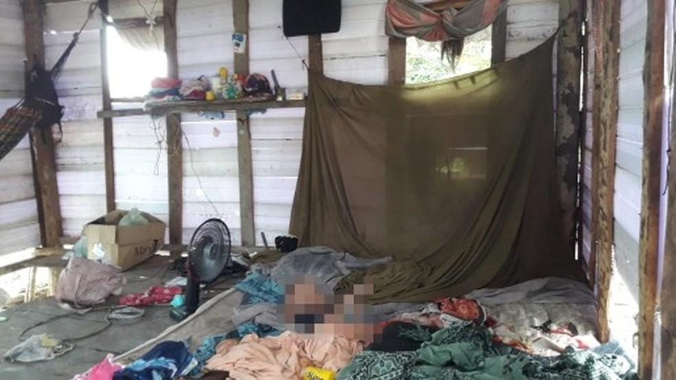 Criança de cinco anos em estado de desnutrição e sinais de maus tratos é resgatada durante ação do MPAM — Foto: MP/Divulgação