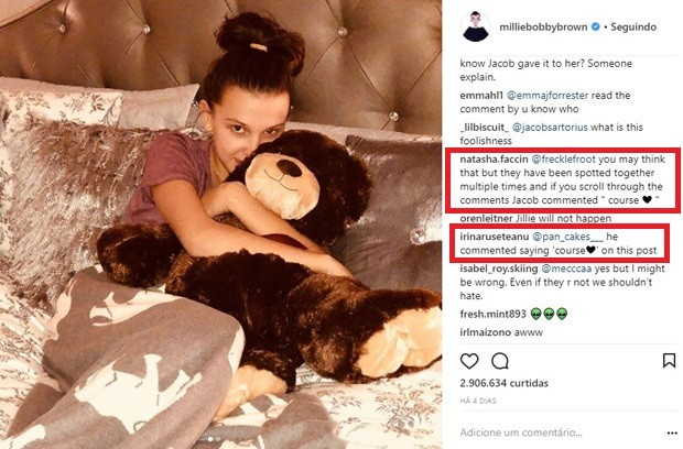 Fãs ficam eufóricos com urso de Millie Bobby Brown dado de presente por Jacob Sartorius (Foto: Reprodução/Instagram)