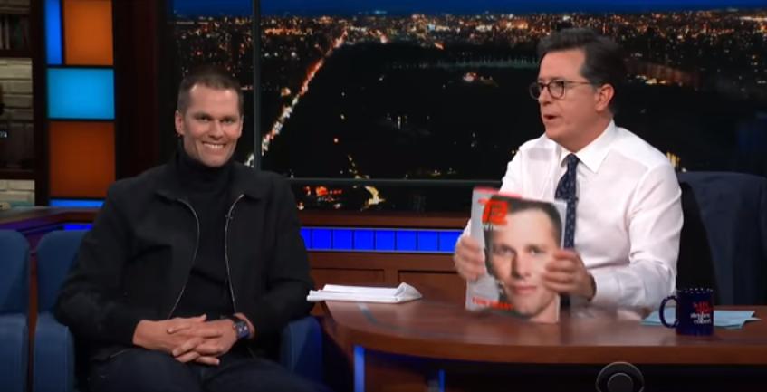 Tom Brady e Stephen Colbert (Foto: Divulgação)