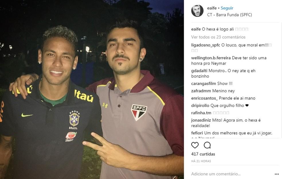 68d64a69410ad Camisa do Palmeiras utilizada por Neymar foi entregue por filha do ...