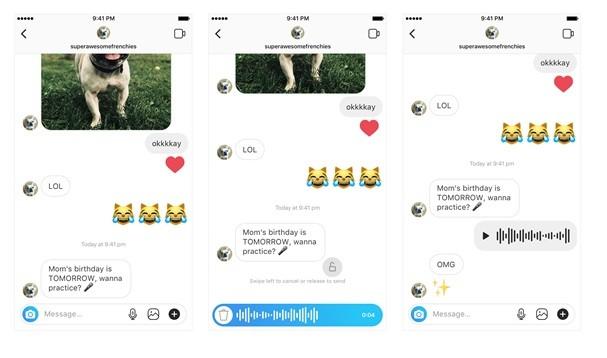 Nova função do Instagram permite envio de áudios pelo Direct (Foto: Reprodução/Instagram)