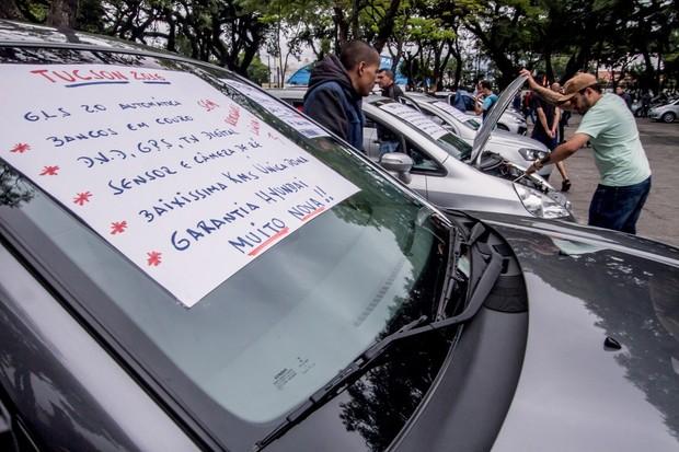 São Paulo-SP | Feira de venda de automóveis usados | Feirão Autoshow Anhembí | Foto: Rogerio Albuquerque (Foto:  )