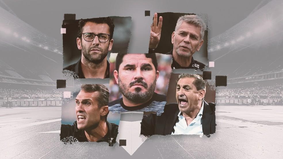 Botafogo teve cinco técnicos ao longo da última temporada — Foto: Infoesporte
