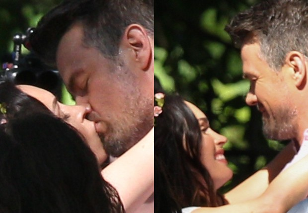Megan Fox e Josh Duhamel filmam longa (Foto: BackGrid)