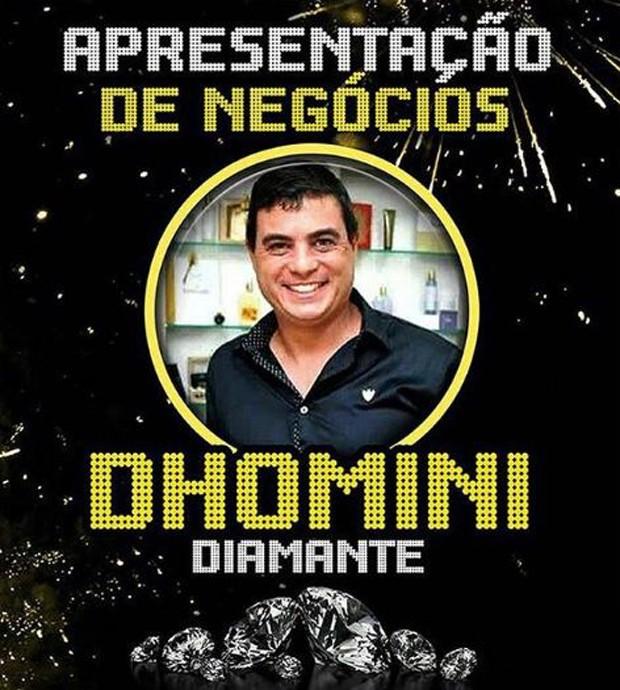 Cartaz de divulgação de palestra de Dhomini (Foto: Reprodução/Instagram)