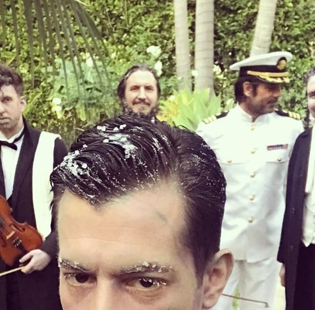 Ariel Rechtshaid, Mark Ronson, Emile Haynie e Brandon Creed (Foto: Reprodução/Instagram)