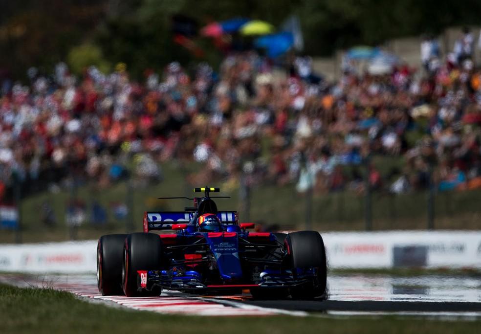 Na Hungria, Sainz mais uma vez terminou nos pontos: 7º lugar (Foto: Getty Images)