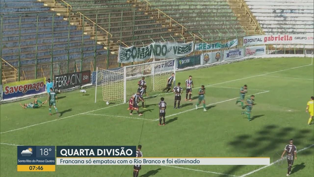 Francana empata com Rio Branco e é eliminado da Segundonda