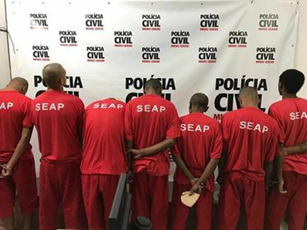 -  Suspeitos foram apresentados na delegacia em Juiz de Fora  Foto: Polícia Civil/Divulgação