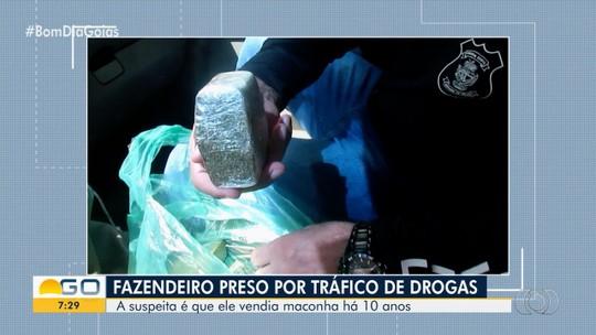 Fazendeiro é preso por tráfico de drogas, em Morrinhos