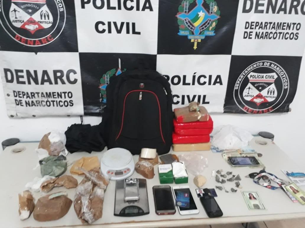 Denarc apreende 5 kg de cocaína escondidos em automóvel; três pessoas foram presas em RO