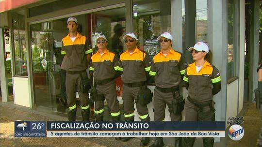 Agentes de trânsito começam a atuar em São João da Boa Vista