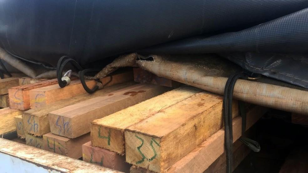 -  Operação apreende 50 metros de cúbidos de madeira ilegal no Pará.  Foto: Ascom / Semas